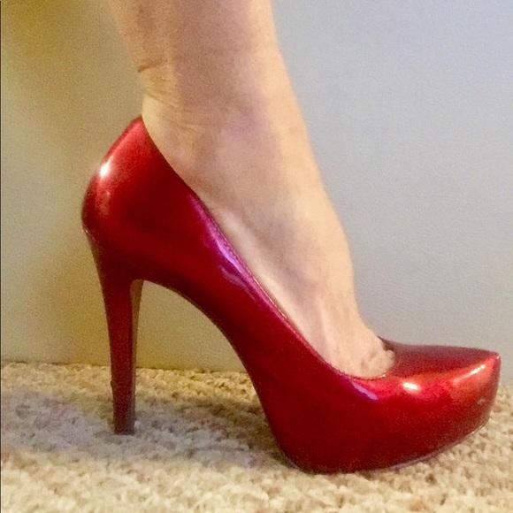 8d5e3649fea ALDO patent red stilettos